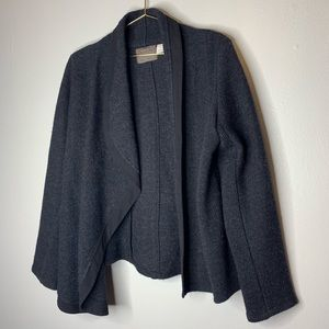 Anthropologie Guinevere Gray 100% wool Coat Large